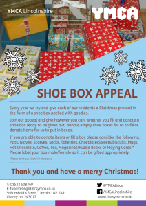 Christmas Shoebox.Shoe Box Appeal 2018 Ymca Lincolnshire