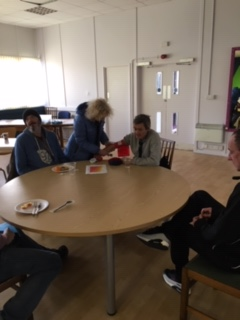 Residents waiting to tuck into a healthy breakfast